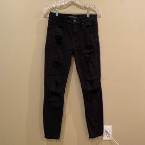 Express jean leggings, mid rise size 4.